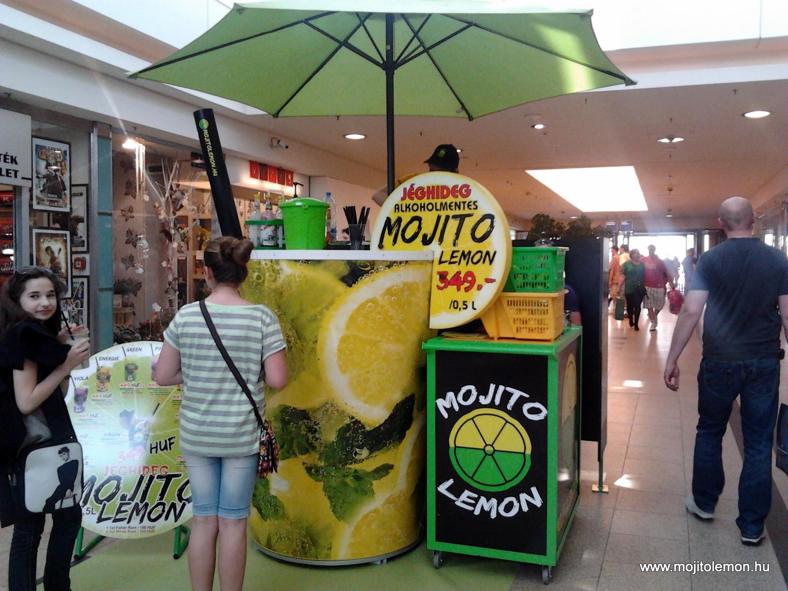 Mojito Lemon koktélpult Pécsett az Árkádban