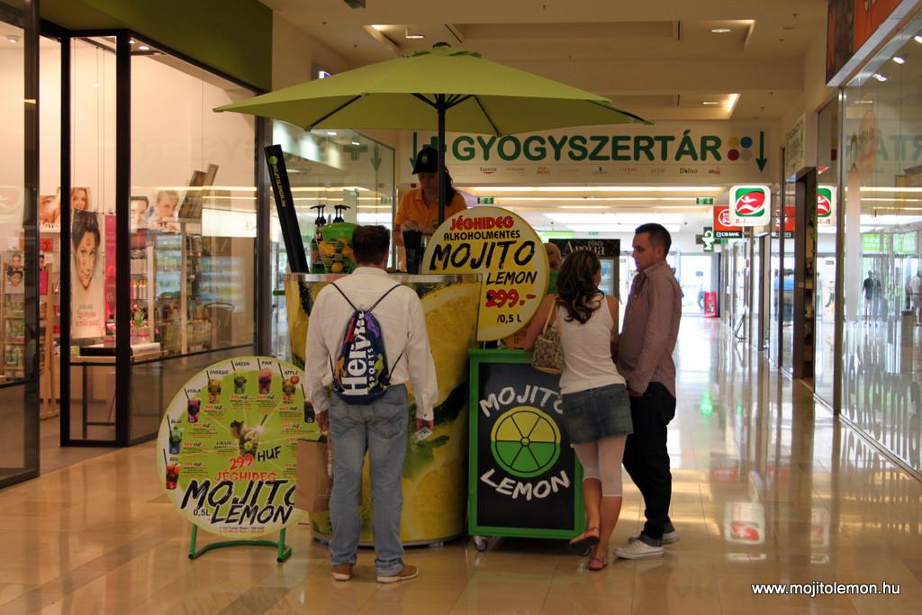 Mobil Mojito Lemon koktélpult az Aréna Plázában