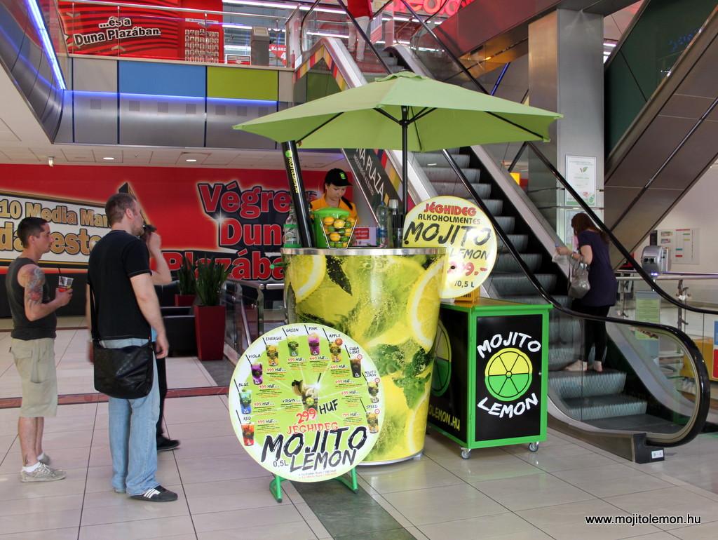 Mobil Mojito Lemon koktélpult a Duna Plázában